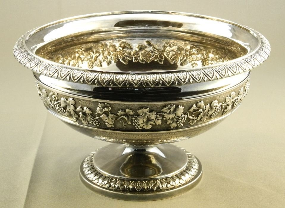 """Geo. 12"""" Punch Bowl, London 1800, John Emes, given to - 2"""