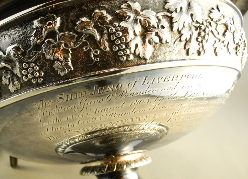 """Geo. 12"""" Punch Bowl, London 1800, John Emes, given to - 3"""