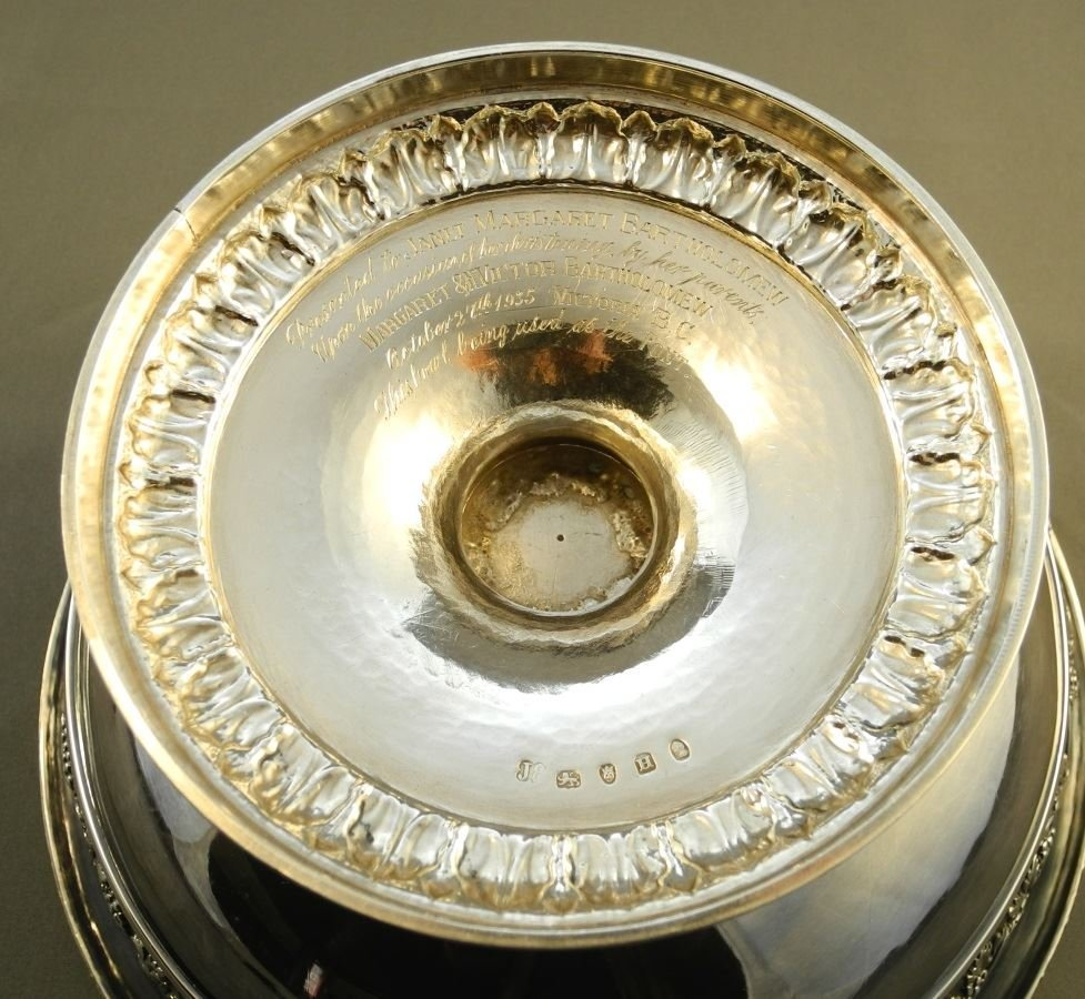 """Geo. 12"""" Punch Bowl, London 1800, John Emes, given to - 5"""