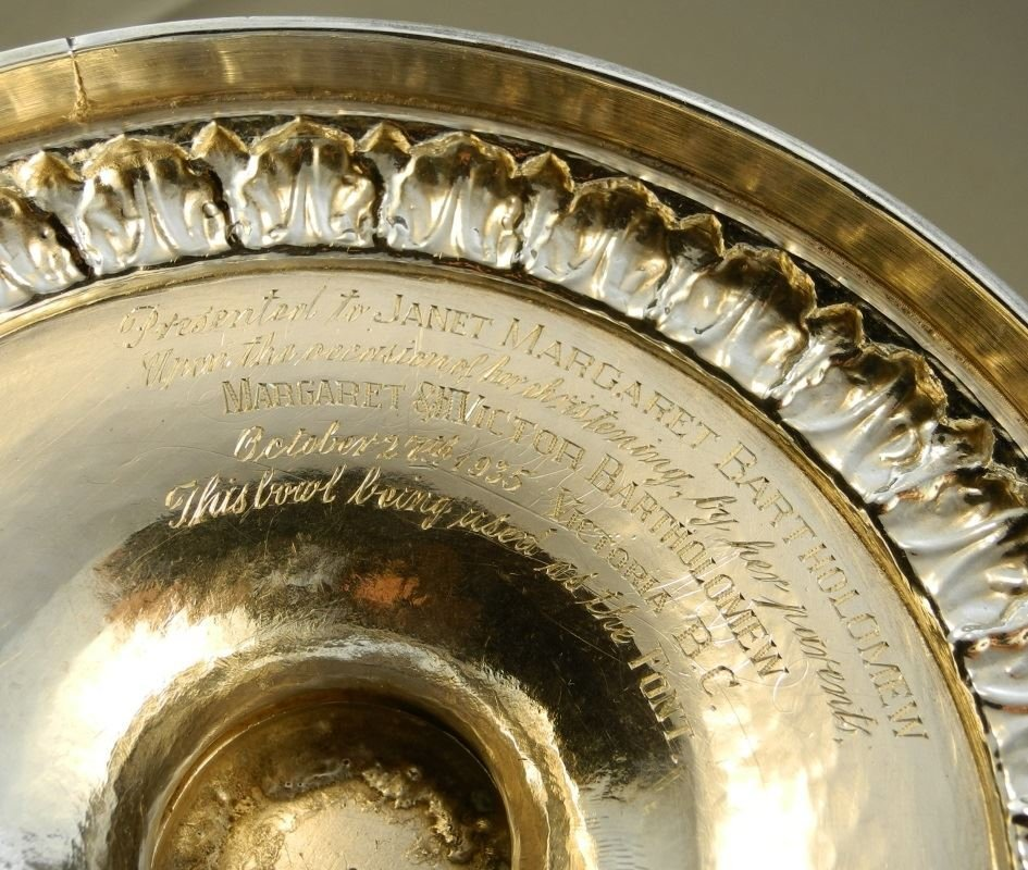 """Geo. 12"""" Punch Bowl, London 1800, John Emes, given to - 6"""