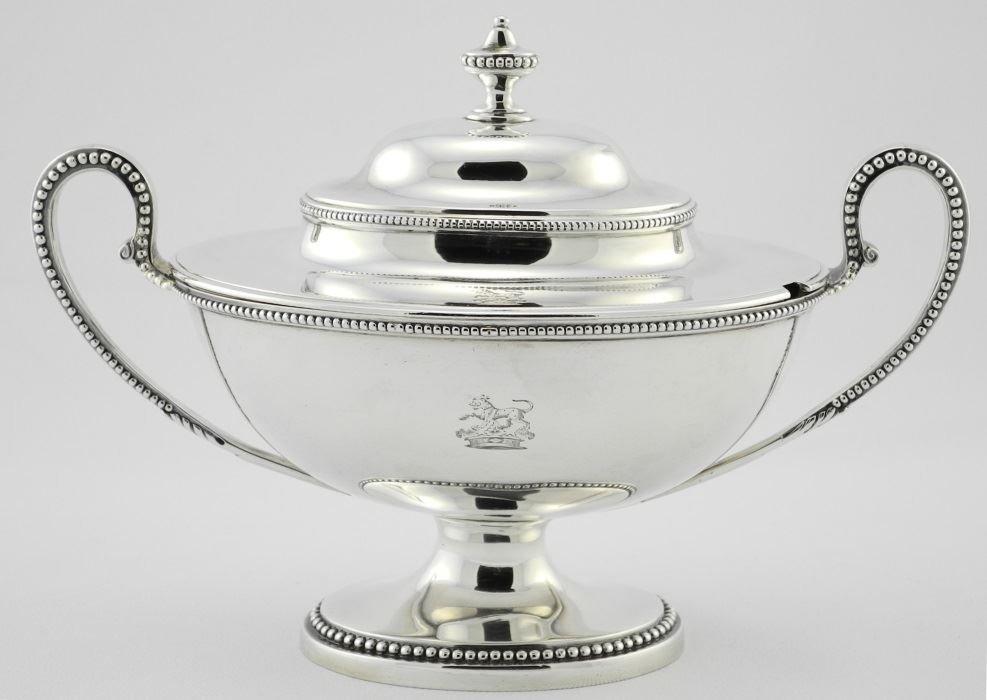 Pair of George III Silver Sauce Tureens & Covers, - 2