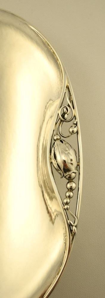 """Georg Jensen Sterling Oval Shaped Serving Dish, 11"""" in - 4"""