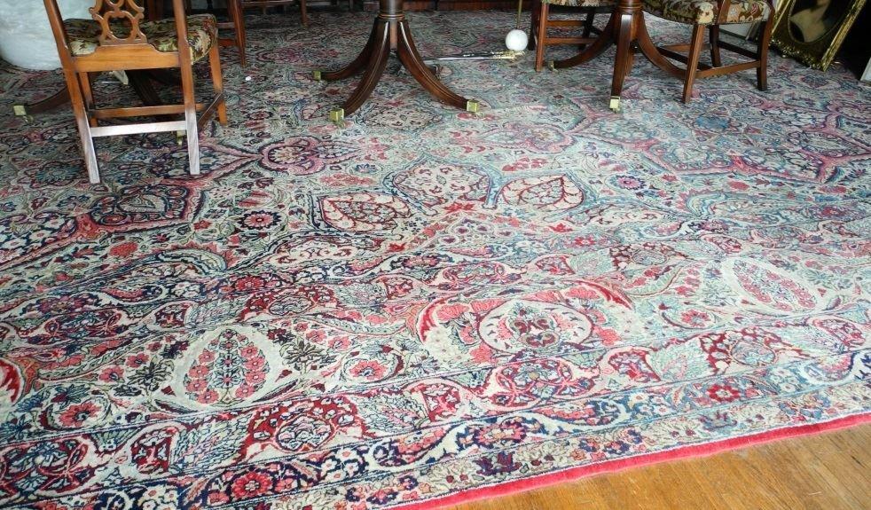 Large Persian Carpet with Koran Inscription, approx.