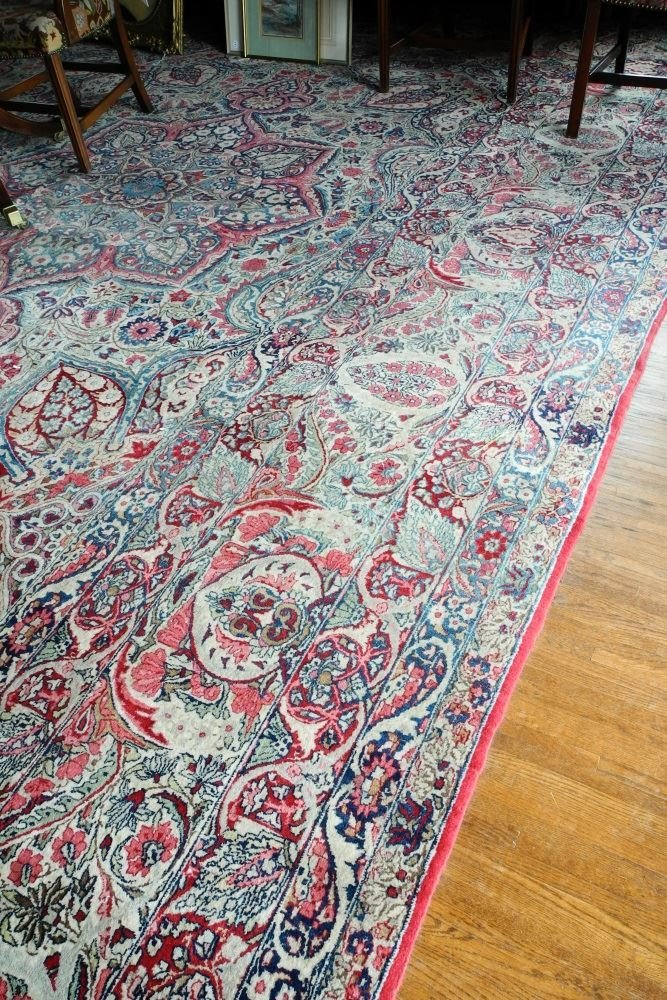 Large Persian Carpet with Koran Inscription, approx. - 2