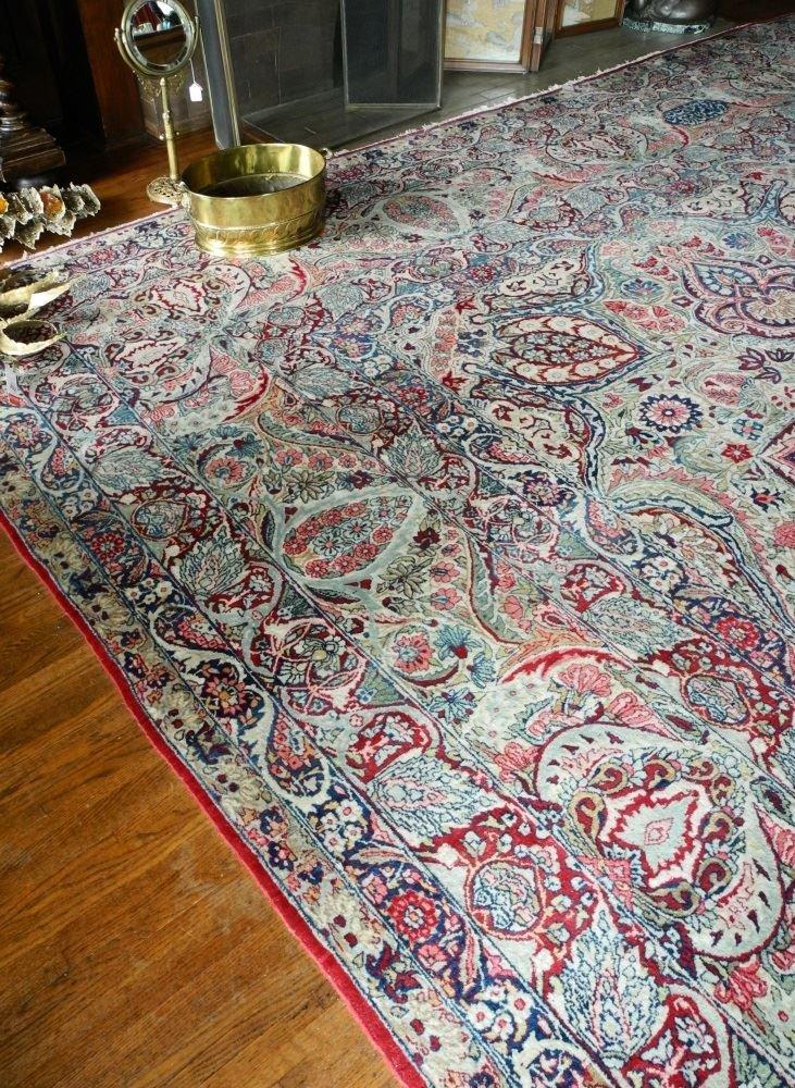 Large Persian Carpet with Koran Inscription, approx. - 3