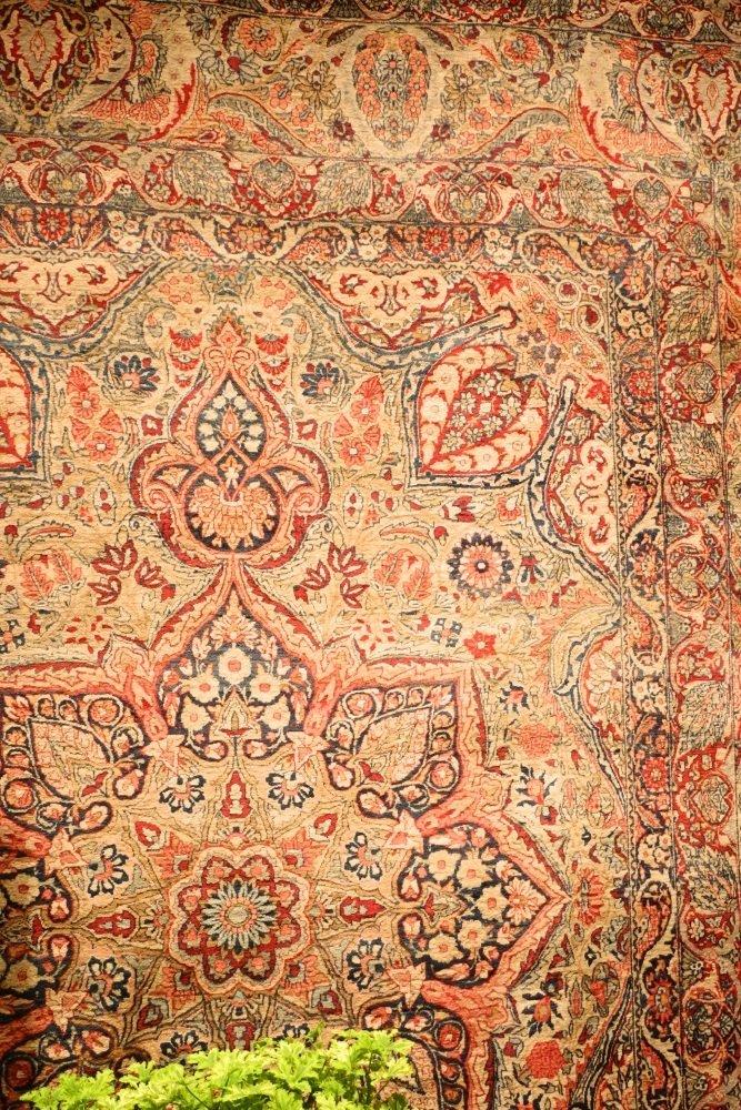 Large Persian Carpet with Koran Inscription, approx. - 7