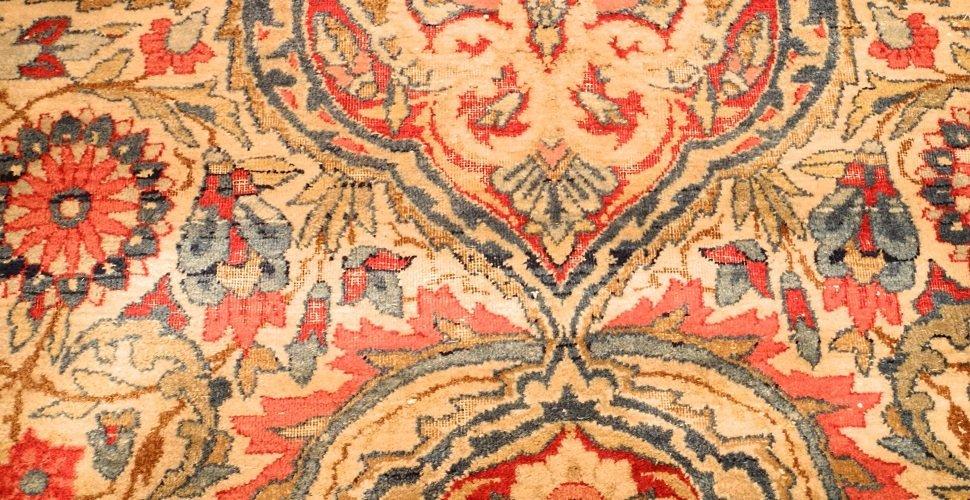 Large Persian Carpet with Koran Inscription, approx. - 8