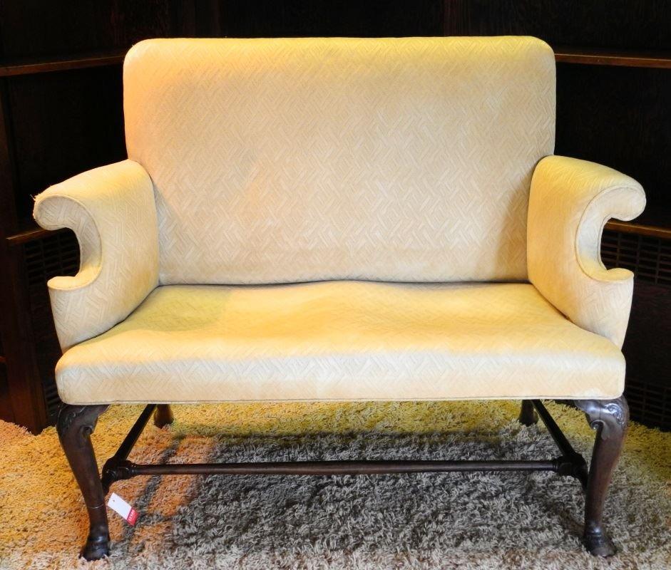 George III Mahogany Framed Two Seat Settee.