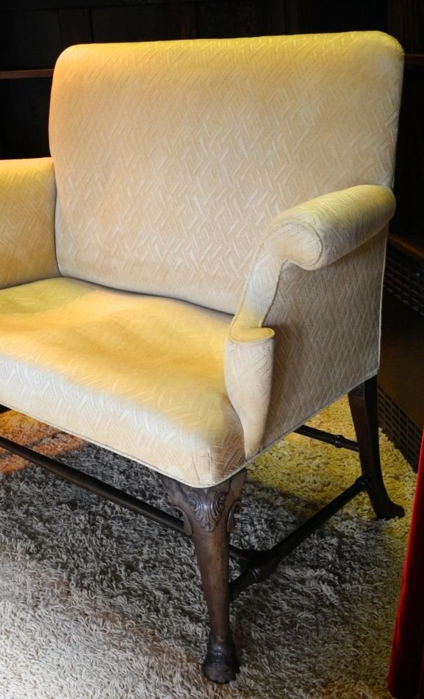 George III Mahogany Framed Two Seat Settee. - 2