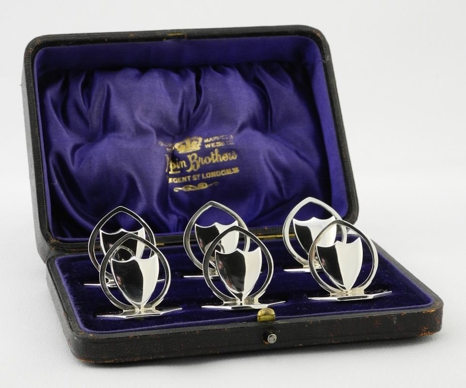 Cased set of Place Card Holders.