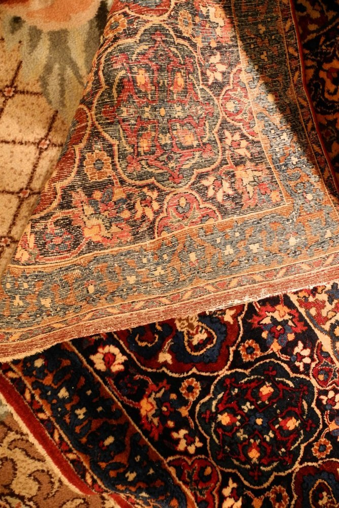 "Kirman Carpet, 20"" x 10'6"", signed. - 10"