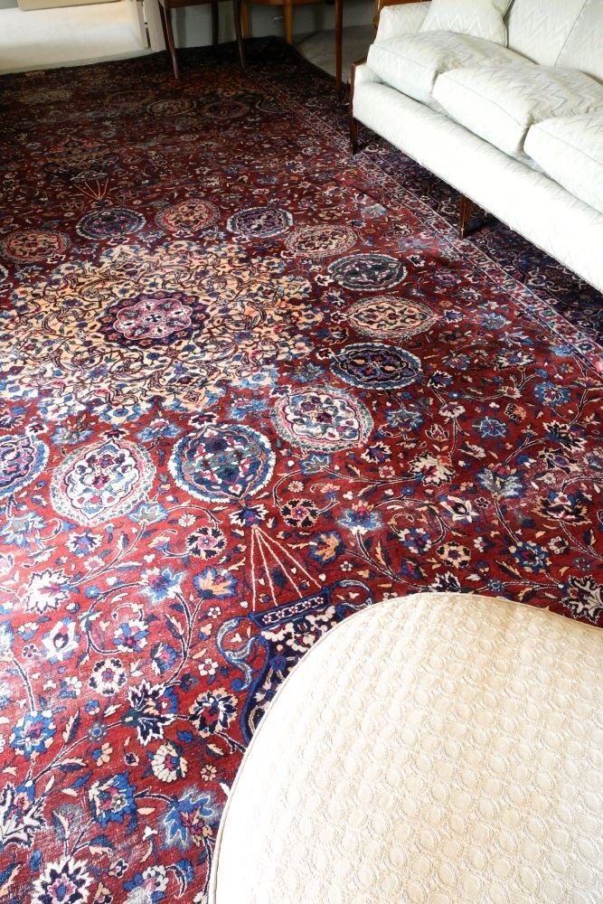 "Kirman Carpet, 20"" x 10'6"", signed. - 4"