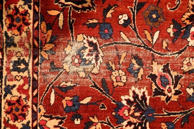 "Kirman Carpet, 20"" x 10'6"", signed. - 7"