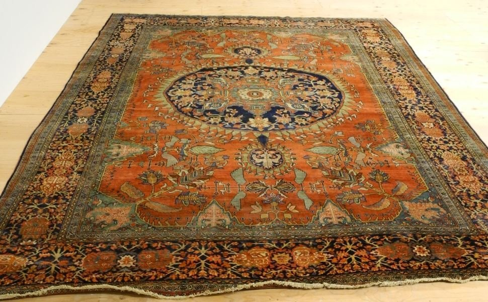 "Asian Carpet, approximately 8'6"" x 11'6"". - 2"