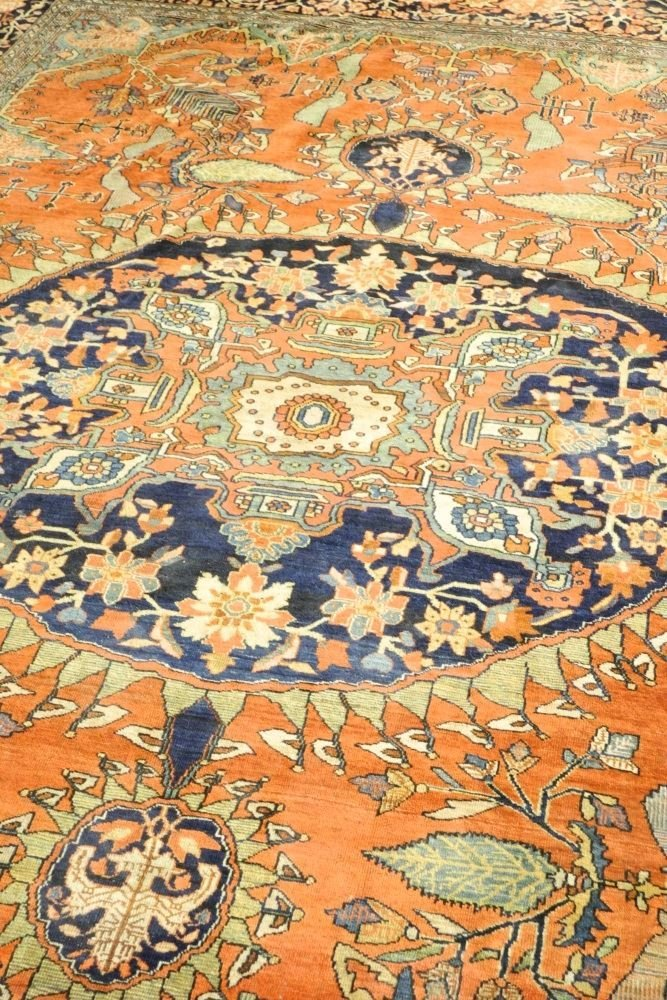 "Asian Carpet, approximately 8'6"" x 11'6"". - 3"