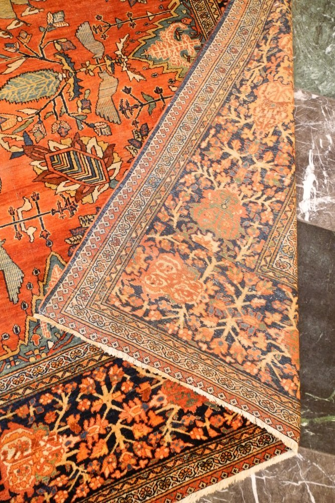 "Asian Carpet, approximately 8'6"" x 11'6"". - 4"