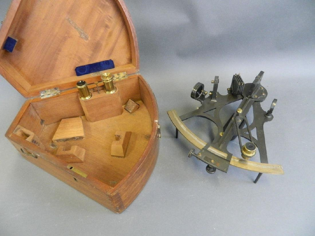 A vintage marine sextant by 'Keohan, London', in a
