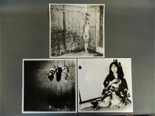 Nobuyoshi Araki, collection of three Japanese black and
