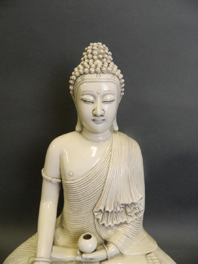 A large Chinese Blanc de Chine porcelain figure of - 2