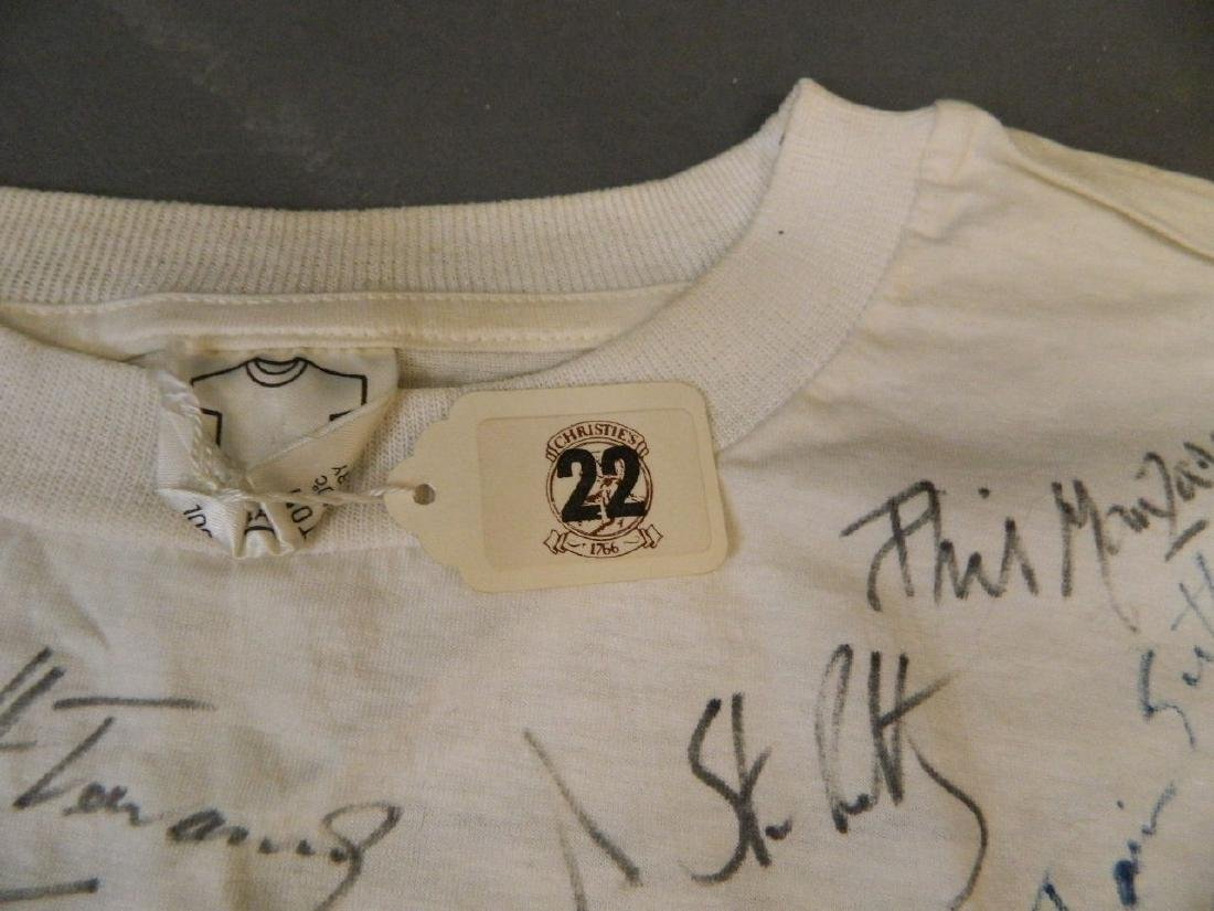 An original 'Rock Against Repatriation' t-shirt, signed - 3