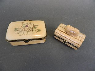 A Chinese Well Carved Bone Trinket Or Pill Box Aug 24 2019 Lakeland Antique Bazaar In Fl