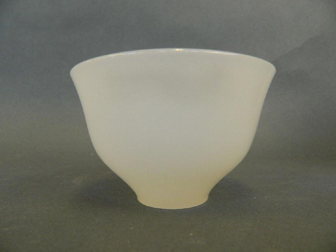"A Chinese white jade tea bowl, 3"" diameter"