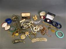 A large collection of costume jewellery to include