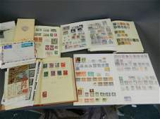 Five albums of World stamps, and a small collection of