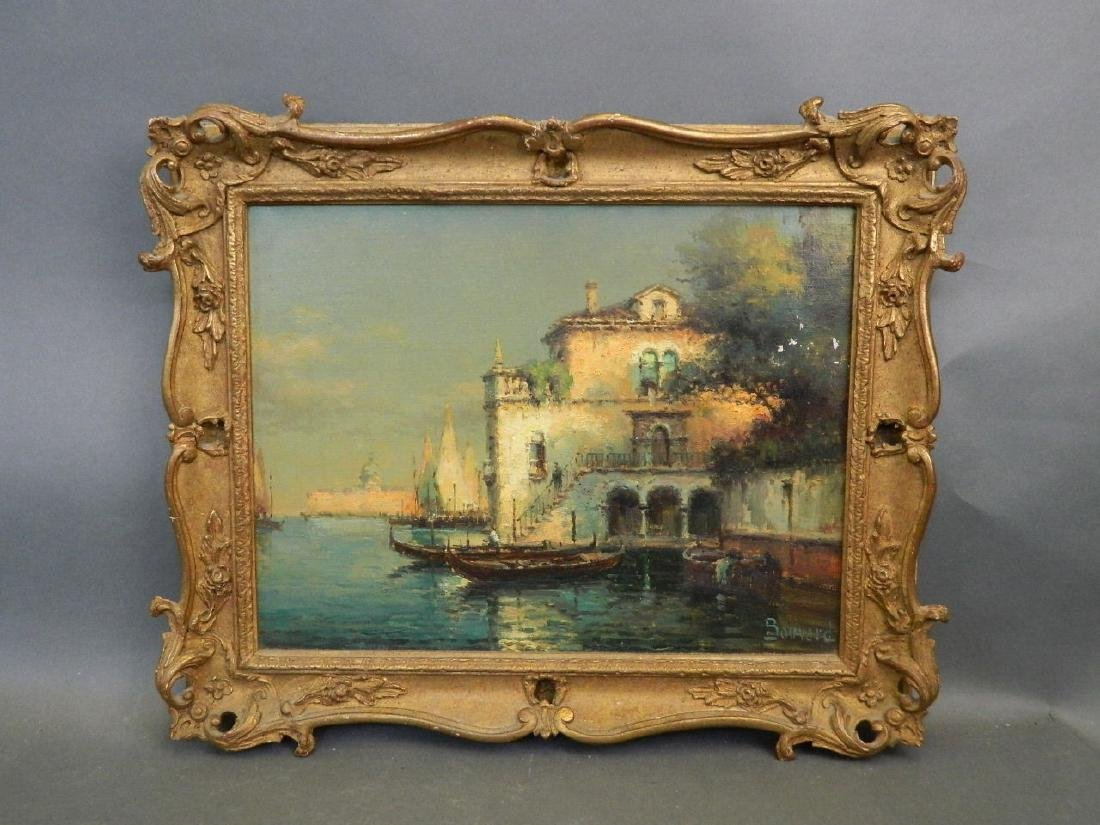 Bouvard, oil on canvas, Venetian backwater, signed,
