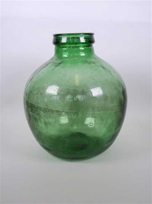 A Large Green Glass Vase 14 High