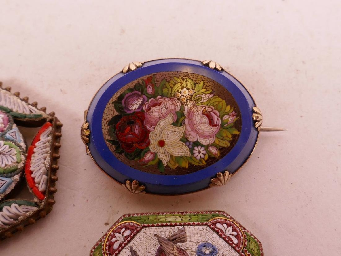 A collection of micro mosaic, including a gold plated - 2