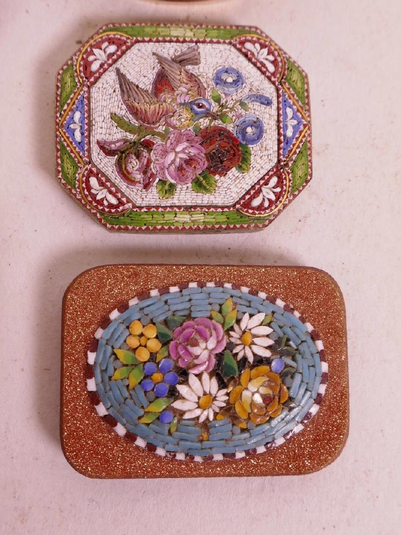 A collection of micro mosaic, including a gold plated - 3