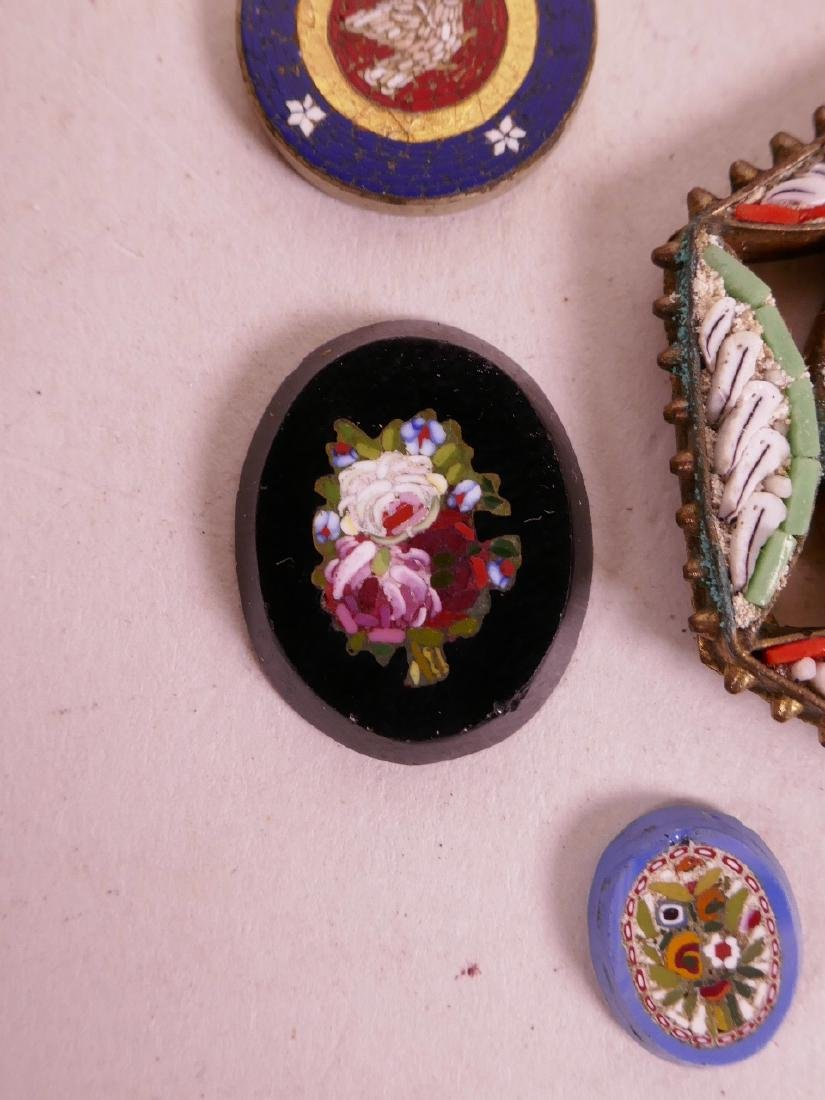 A collection of micro mosaic, including a gold plated - 6