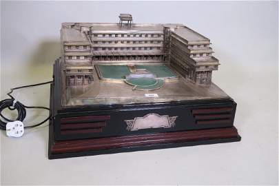An Indian silver architectural model of Ramghandram