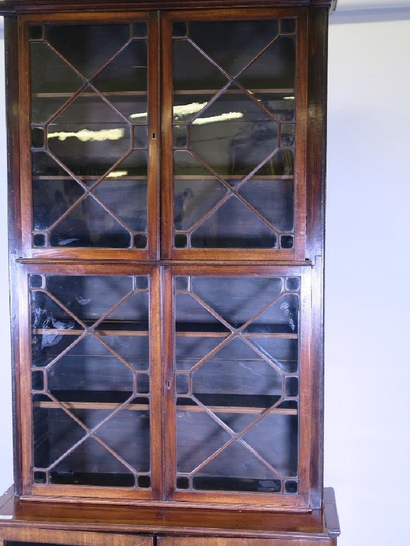 A mahogany astragal glazed two section bookcase - 2