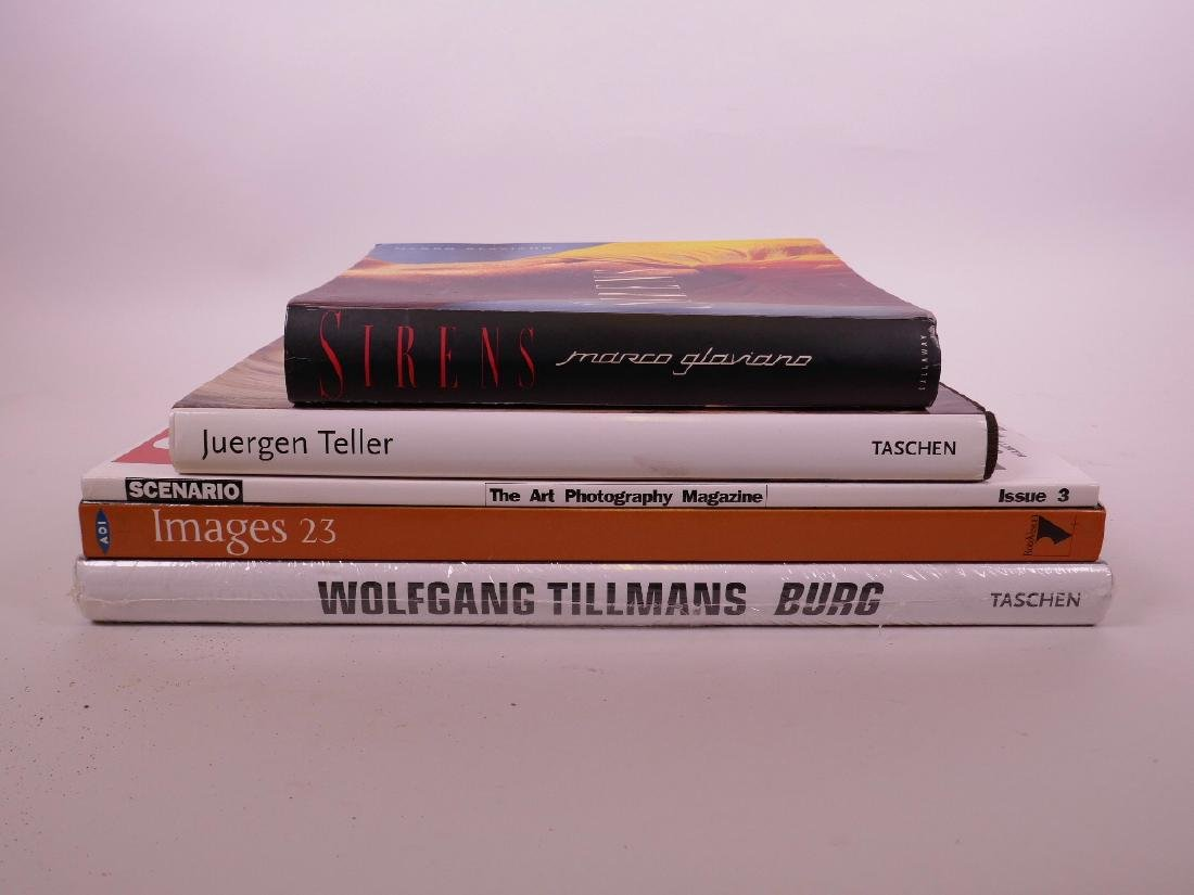 A collection of art/photography books and magazines to