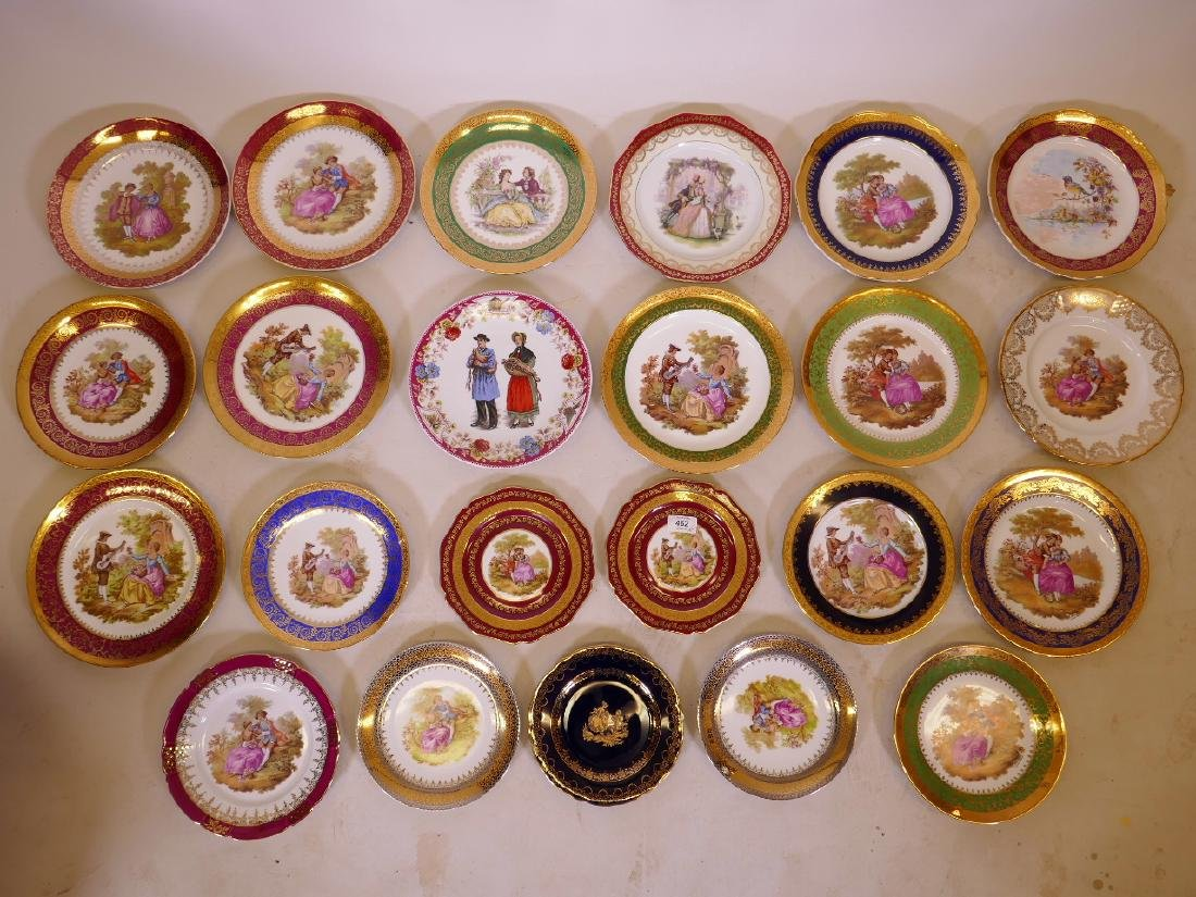 A large quantity of Limoges porcelain cabinet plates,