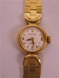 An 18ct gold Rolex lady's wristwatch, with original