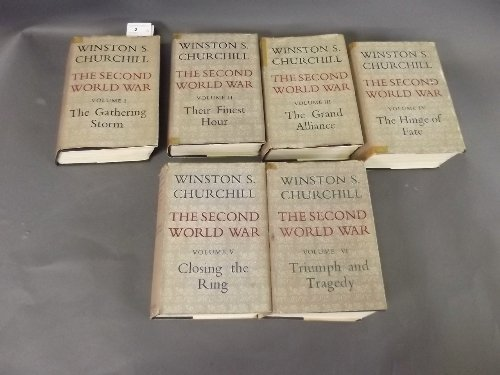 A set of 6 volumes of Winston Churchill 'The Second