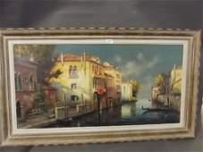 Leo Fontan 1884  1965 a large oil on canvas