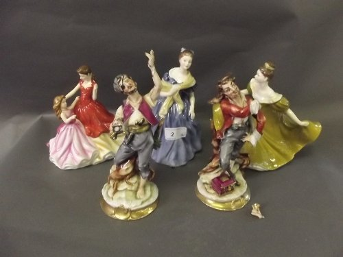 A quantity of Royal Doulton figurines etc, 8½'' high