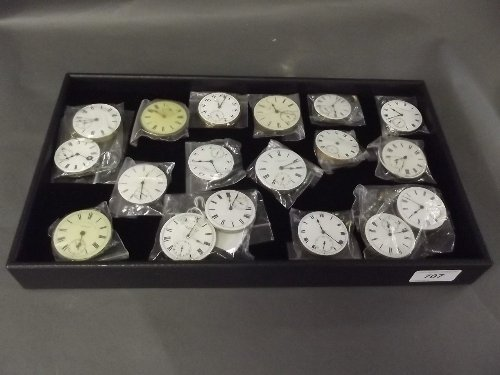 A collection of watch movements made by Lonex, Waltham,