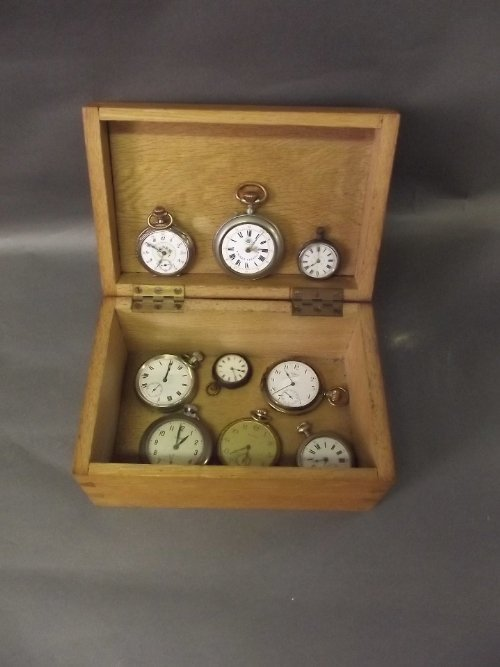 A collection of pocket and fob watches made by Reliance