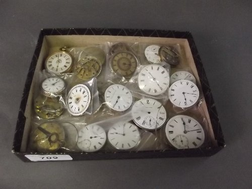 A quantity of pocket and fob watch movements, various m