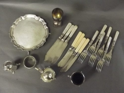 A quantity of Hallmarked silver and silver plate items