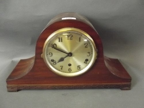 An Edwardian mahogany cased mantle clock, Westminster