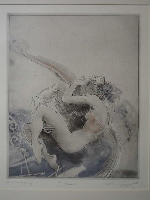 Jurgen Gorg, 'Bolero II', a signed artist proof