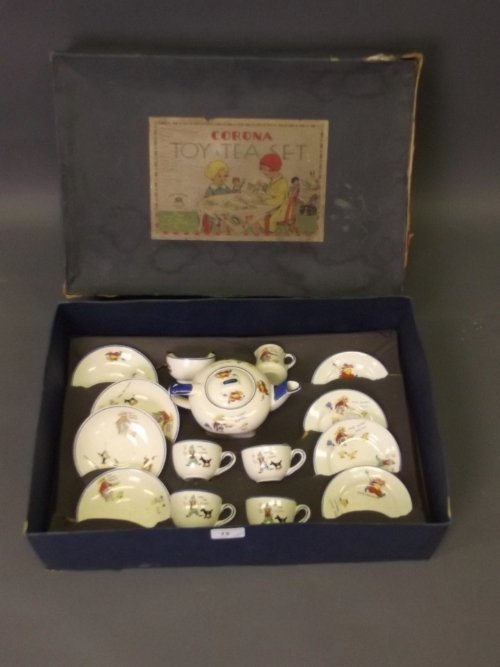 A Royal Corona Ware child's tea set with 'Poor Bunny
