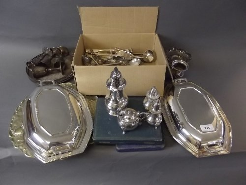 A quantity of silver plate to include tureens etc
