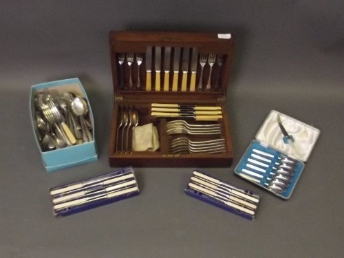 A canteen of cutlery, and a large collection of